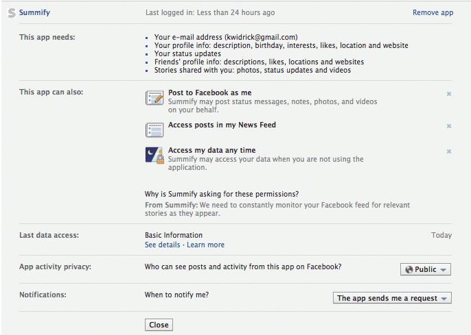 You Oughta Know: Facebook Apps