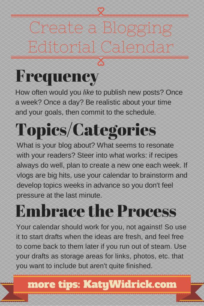 How to create a blogging editorial calendar