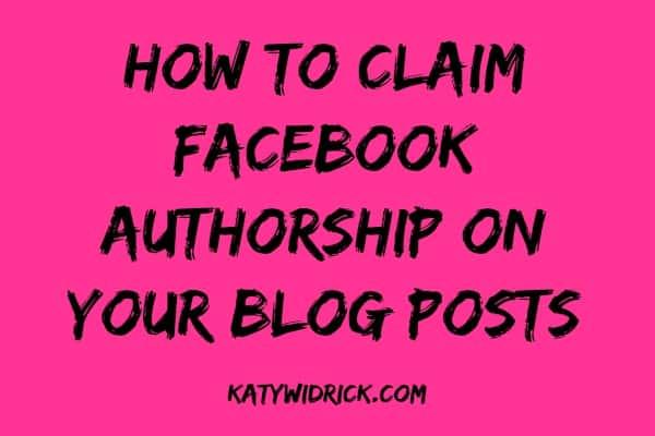FB Authorship