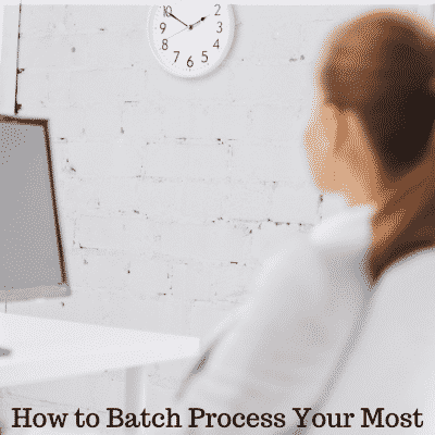One Hour, Once a Week: How to Batch Process Your Most Time-Consuming Blogging Tasks