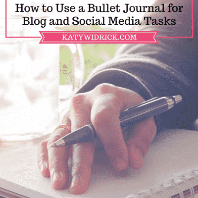 How to Use a Bullet Journal for Blog and Social Media Tasks