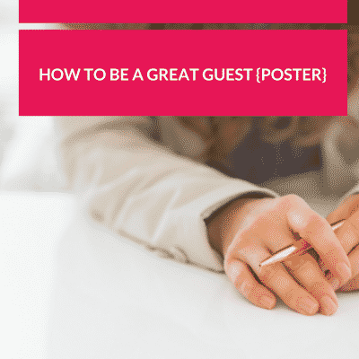Do You Know How to Be a Great Guest (Poster)?