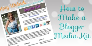 Making a Blogger Media Kit