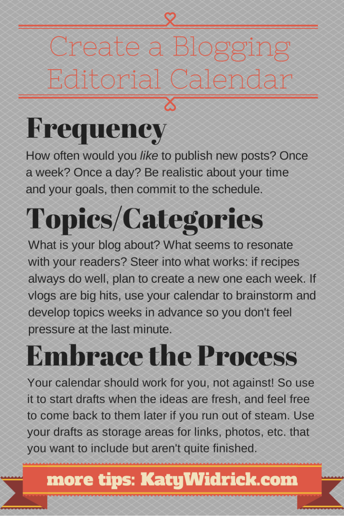 How to create a blogging editorial calendar