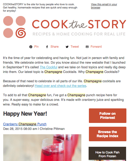 Cook the Story Newsletter