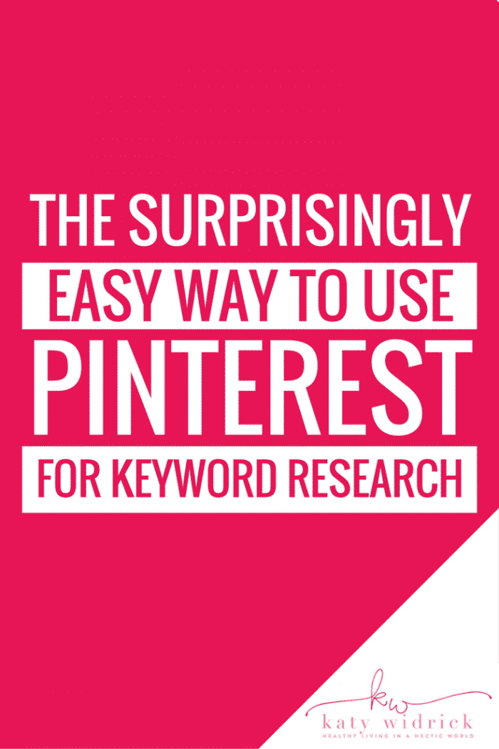 How to use Pinterest for Keyword Research